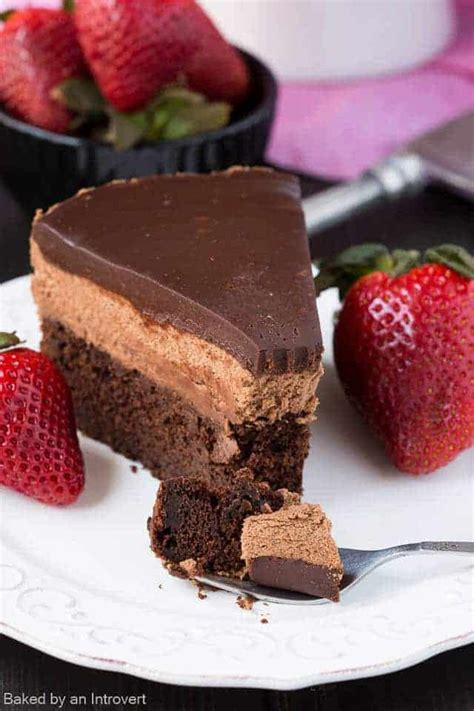 light dessert recipes chocolate mousse cake baked by an introvert