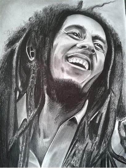 Marley Bob Drawing Drawings Easy Gambar Wallpapers