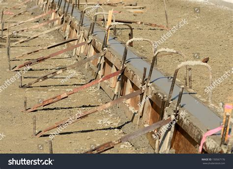 concrete formwork with wood forms with supports braces