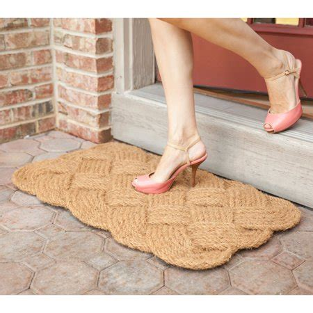 braided coir doormat entryways knot ical woven coconut fiber door mat