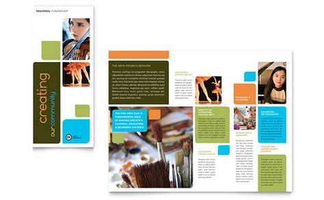 arts council education brochure template word publisher