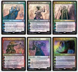 the magic the gathering 2017 planeswalker pack sdcc 2017 planeswalkers revealed manaleak
