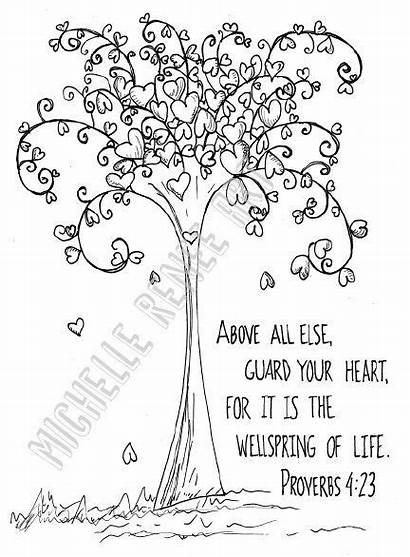 Bible Coloring Verse Proverbs Pages Verses Scripture