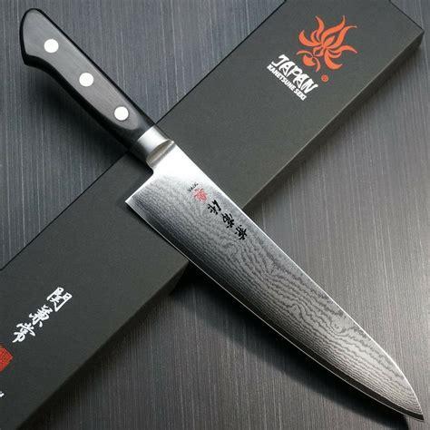 Japanese Damascus Kitchen Knives japanese kanetsune seki damascus vg10 chef knife gyuto