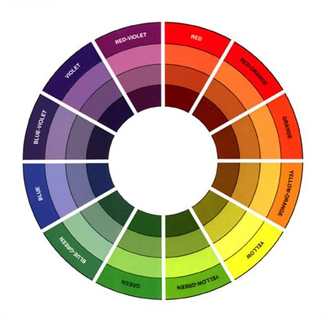 sle color wheel chart 7 documents in pdf word