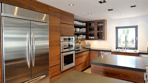 mdf cuisine modern kitchen in walnut mdf ateliers jacob calgary
