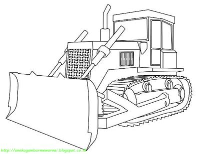 To print the coloring page: Aneka Gambar Mewarnai - 5 Gambar Mewarnai Bulldozer Untuk ...