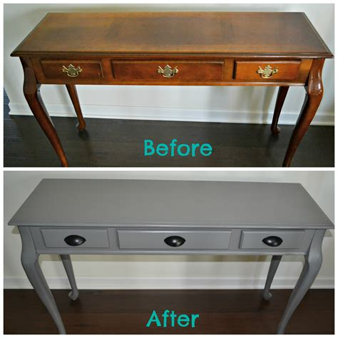 diy spray painted console table how to update furniture