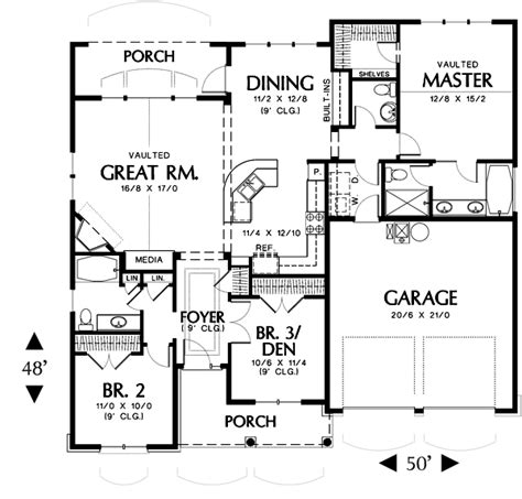 country house plan with 3 bedrooms and 2 5 baths plan 2432