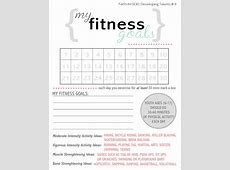 Health And Wellness Goal Worksheet The best worksheets
