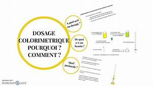 Dosage Colorim U00e9trique  Pourquoi   Comment
