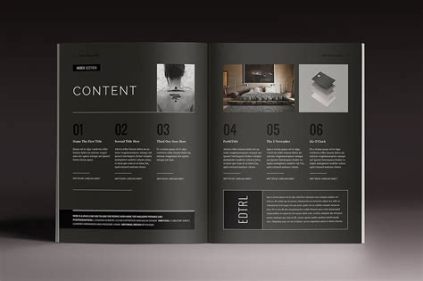 note card template in design blackazine indesign template in magazine templates on