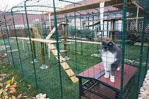 Construire Enclos Pour Chats : outdoor katzengehege katzen omlet ~ Melissatoandfro.com Idées de Décoration