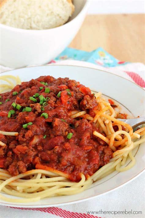 cooker spaghetti slow cooker spaghetti sauce the recipe rebel