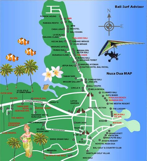 nusa dua map google search bali reisen