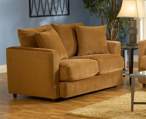 How Is A Sofa by Cognac Fabric Living Room Sofa Loveseat Set
