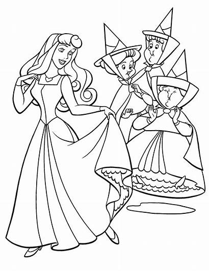 Aurora Coloring Princess Fairies Pages Sleeping Beauty