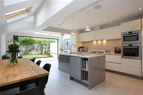 Stylist, Contemporary Kitchen Extension In Terraced