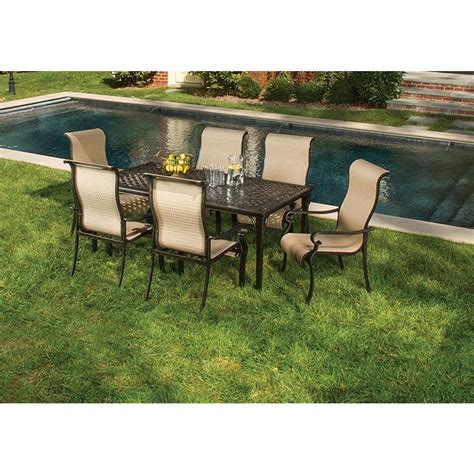 hanover brigantine 7 patio outdoor dining set
