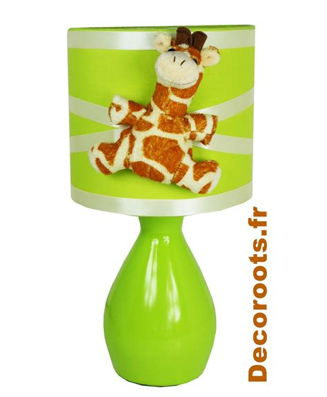 le de chevet jungle girafe vert anis et beige enfant b 233 b 233 luminaire enfant b 233 b 233 decoroots