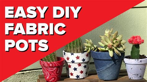 diy fabric covered pots easy decoupage crafts