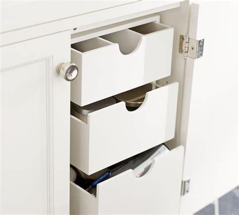 best under bathroom sink organizer sink console storage drawers pottery barn