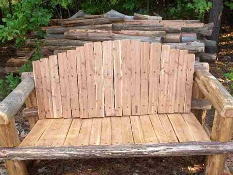 rustic cedar bench plans    format