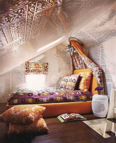 attic bedroom with a hippie vibe hippie boho chic style