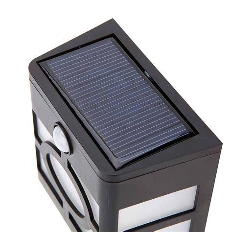 solar panel pir motion light sensor 10 led wall light