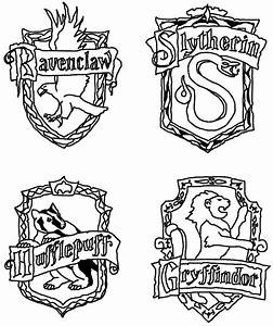 Hogwarts Crest Coloring Page - Coloring Home