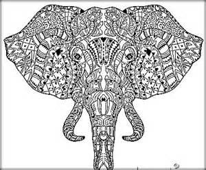 Adult Mandala Coloring Pages Elephant
