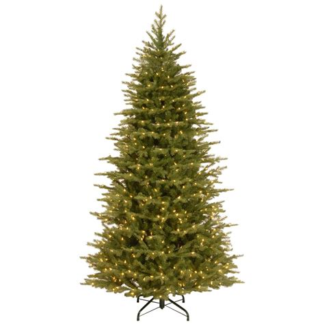 national tree company 7 5 ft nordic spruce artificial slim tree with light parade led