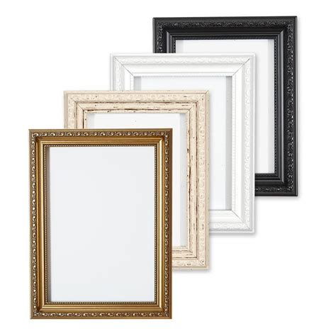 black shabby chic photo frames ornate shabby chic picture frame photo frame poster frame white gold or black ebay