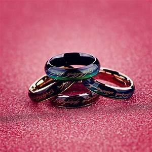 Lord of the rings mood ring wedding ring men in rings from for Mood wedding rings