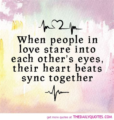 Look Into Each Others Eyes Quotes