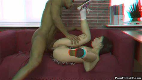 Tutor Instructed To Dildoing Yourself Ir Penetration In Anaglyph 3D Babes Will Better Grades