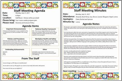 staff meetings agenda template fresh staff meeting