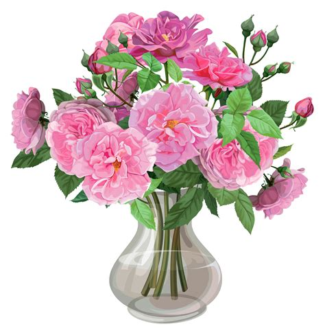 deco de vase transparent pink roses in vase transparent png clipart gallery yopriceville high quality images and