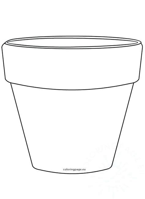 Coloring Page Flower Pot by Flower Pot Template Sketch Coloring Page
