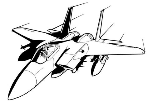 future fighter jet drawing coloring page airplane
