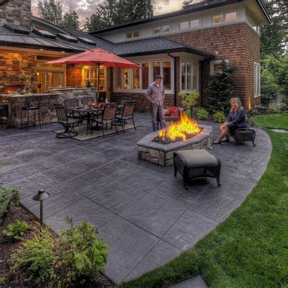 Large Patio Designs by Sted Concrete Patio Looks Like Large Pavers Home In