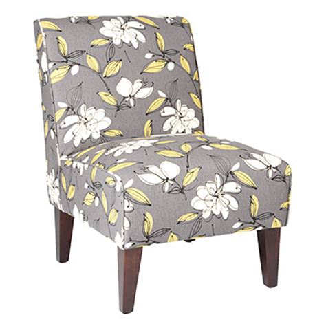 view armless accent chair bremer graphite floral deals