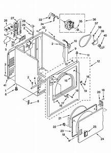 Cabinet Parts Diagram  U0026 Parts List For Model Med5700tq0
