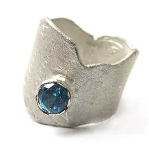 blue topaz wedding band sculptural sterling silver ring with blue topaz catherine marche bespoke jewellery