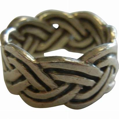 Knot Infinity Celtic Sterling Silver Ring Fine