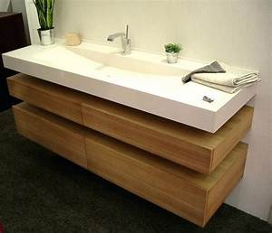Meuble Salle De Bain Bois Double Vasque : plan meuble salle de bain bois ~ Melissatoandfro.com Idées de Décoration
