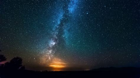 Milky Way Galaxy Over Desrt Night Timelapse