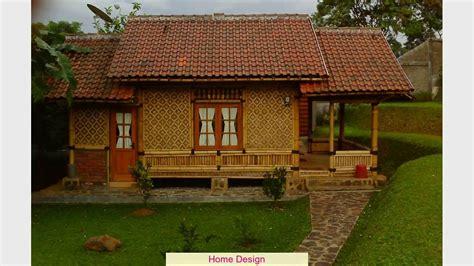 lihat contoh desain rumah bambu sederhana unik miimalis