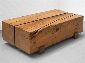 3rings top ten reclaimed wood furniture With wood beam coffee table