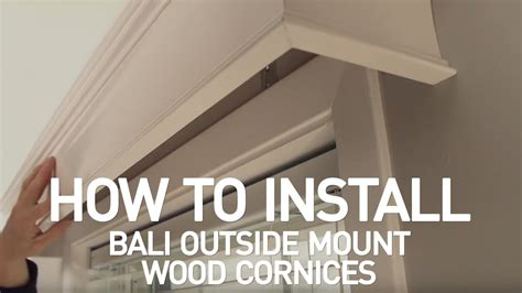How To Install Bali® Wood Cornices  Outside Mount  Youtube